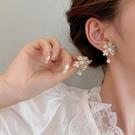 宮廷巴洛克花朵耳環2021年新款潮夏季款復古時尚耳飾女高級感耳釘