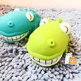 狗狗玩具出口狗狗乳膠髮聲玩具微笑的大嘴鱷魚兩色 貝芙莉女鞋