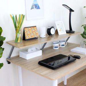 【頂堅】寬120公分(Z型)桌上型置物架/螢幕架(三色可選)原木色