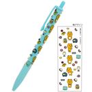 sun star 日本製可夾式透明筆桿自動鉛筆 0.5mm KAKAO FRIENDS系列 RYAN 滿版 藍綠_UA61974