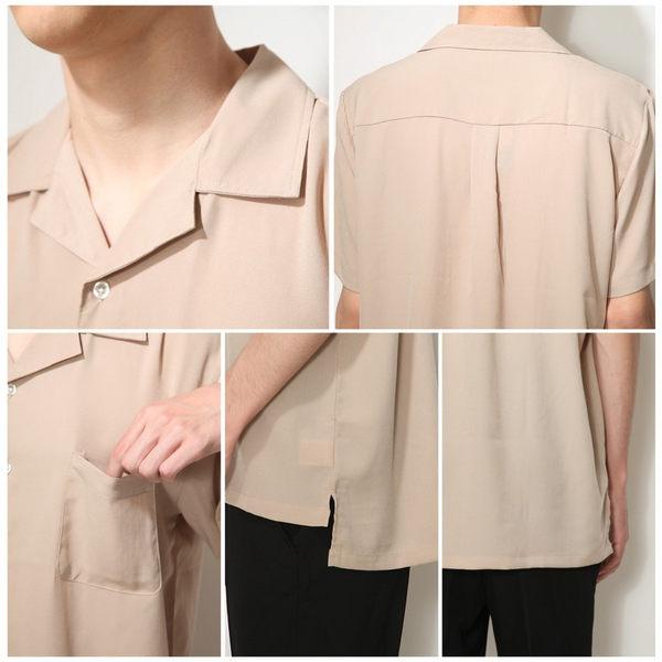男短袖襯衫 休閒印花開領襯衫 日本直送 20色 S-M