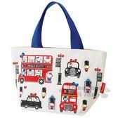 〔小禮堂〕Hello Kitty 帆布手提袋《藍白紅.英倫》便當袋.外出袋 4973307-44606