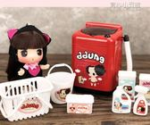 過家家迷你家電榨汁機果汁機微波爐抖音兒童玩具洗衣機可加水仿真YYJ 育心小賣館