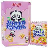 明治熊貓夾心餅-草莓口味175g【愛買】