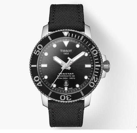 TISSOT 天梭 Seastar 海洋之星陶瓷潛水80小時機械錶 T1204071705100