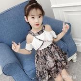 女童連衣裙夏裝大碼女童洋裝新款韓版童裝兒童洋氣裙子夏季雪紡裙女孩潮衣 SN1558【夢幻家居】