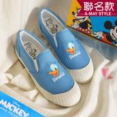 迪士尼聯名-MIT唐老鴨刺繡帆布休閒懶人鞋