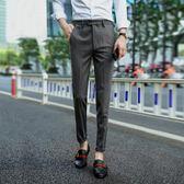 新年好禮 85折 秋季新款男英倫修身小腳西裝褲男韓版小西裝