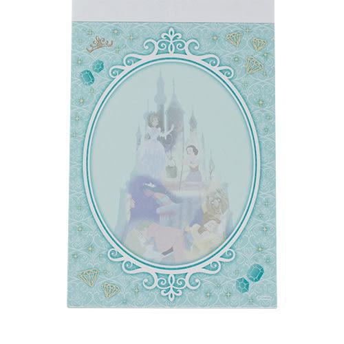 《sun-star》迪士尼公主夢想剪影系列A6便條本(經典集合綠)★funbox生活用品★_UA48895