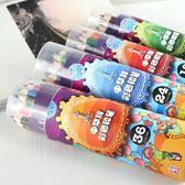 中華6300桶裝彩色鉛筆安全環保24 36 48色美術繪畫涂色油性彩鉛