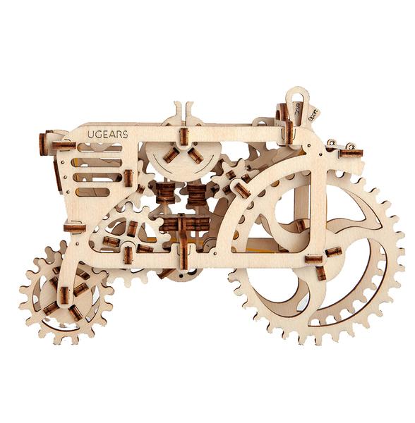 【海思】UGEARS 自我推進模型 - 拖拉機 TRACTOR 來自烏克蘭.橡皮筋動力.機械驚奇 ! 科學玩具