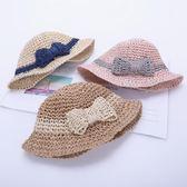 女寶寶草帽兒童帽子夏季女童遮陽帽太陽帽