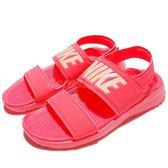 【六折特賣】Nike 涼鞋 Wmns Tanjun Sandal 粉紅 魔鬼氈設計 大LOGO 涼拖鞋 女鞋【PUMP306】 882694-600