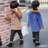 中大尺碼毛呢外套 秋冬裝新款韓版男童呢大衣兒童加厚毛呢外套呢子風衣 js17525『Pink領袖衣社』