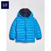 Gap男嬰幼童 休閒連帽拉鏈長袖棉服 473793-微風藍