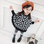 限時8折秒殺毛衣女童洋氣毛衣新款兒童蝙蝠衫套頭寶寶針織衫寬鬆秋裝上衣外套