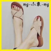 MG 外穿拖鞋-拖鞋時尚外穿防滑韓版平底一字拖涼鞋