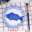 【堯峰陶瓷】藍色魚筷架 單入   早午餐親子野餐料理適用