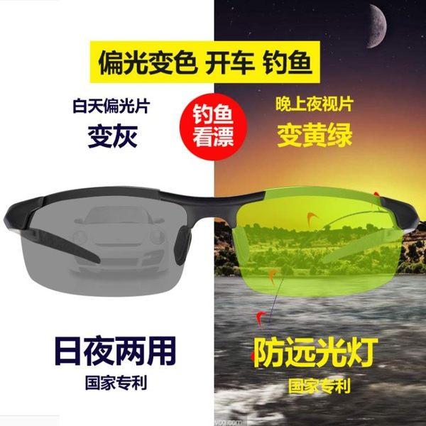 太陽鏡男士偏光夜視鏡開車釣魚眼鏡看漂專用防遠光燈變色日夜兩用