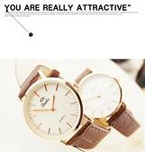帶韓版女錶機械石英男錶防水情侶時尚潮流超薄手錶女學生 QM 向日葵