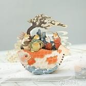 夢唐畫貓DIY八音盒 古風木制拼插音樂盒玩具工藝品禮物