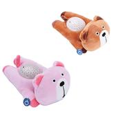 美國 cloud.b 聲光音樂夜燈/安撫睡眠玩具(棕熊熊/粉熊熊)【六甲媽咪】
