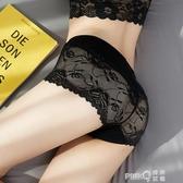 玉媚內褲少女性感蕾絲網紗鏤空火辣高腰純棉檔超薄大碼胖MM200斤 (pinkq 時尚女裝)