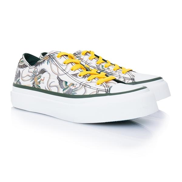 [Daniel Wong]輝映拼自由 低筒綁帶 帆布女鞋