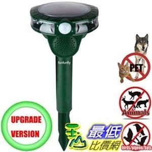 [106美國直購] funfunfly 太陽能多動物驅趕器 Solar power multi Animal Repeller with waterproof IP4X Repellent Dog  _TB1