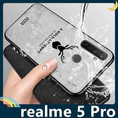 realme 5 Pro 麋鹿布紋保護套 軟殼 浮雕壓紋 牛仔絨布 蝙蝠俠 可掛繩 全包款 手機套 手機殼
