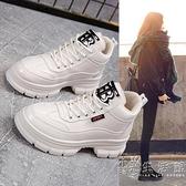 厚底漆皮馬丁靴女2020春秋季新款網紅瘦瘦單靴英倫風短靴高幫鞋子 小時光生活館