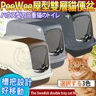 【培菓平價寵物網】荷蘭PeeWee必威》屋型雙層貓便盆系列