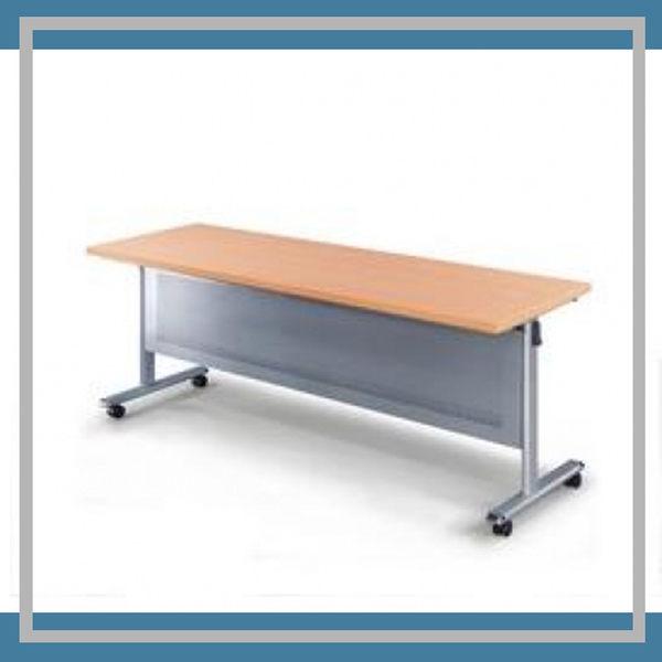 【必購網OA辦公傢俱】HS-1860WH 銀桌架 白櫸木桌板 會議桌