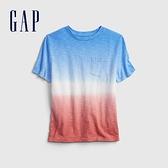 Gap男童 純棉紮染短袖T恤 683421-藍色紮染
