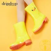 中筒膠鞋防水鞋戶外防滑雨靴可愛韓國雨鞋【雲木雜貨】