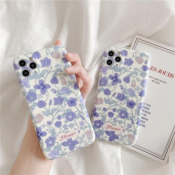 紫色花朵 適用 iPhone12Pro 11 Max Mini Xr X Xs 7 8 plus 蘋果手機殼