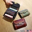 熱賣新款韓版多卡位卡包女短款復古錢包百搭錢夾女硬幣零錢包【618 狂歡】
