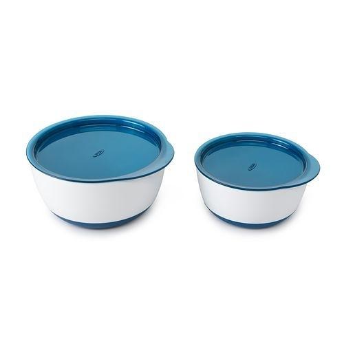 OXO tot 防滑加蓋大小碗組(海軍藍)〔衛立兒生活館〕