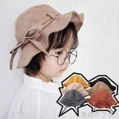 1-2-3歲嬰兒漁夫帽子女童夏季韓版盆帽兒童春秋冬帽子女孩寶寶潮 焦糖布丁