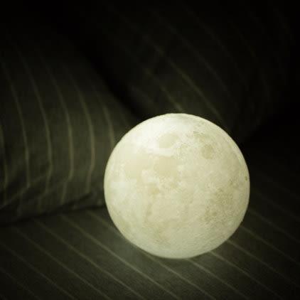 《7color camera》15cm 3D列印月球燈 小夜燈 創意造型燈