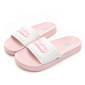 PLAYBOY美式熱情條紋休閒拖鞋-粉(YT617)
