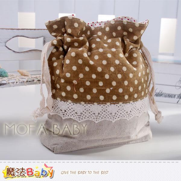 日本風長型拼布束口小物袋(亞麻灰/咖啡) 大人&小孩用品 魔法Baby