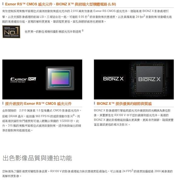 送64G+原電*2+座充+相機包+自拍棒等10好禮 SONY DSC-RX100VA RX100M5A 索尼公司貨