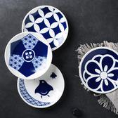 日式手繪釉下彩餐具家用醬料碟小碟子圓碟