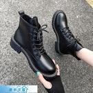 馬丁靴 帥氣黑色馬丁靴女ins潮2020秋季新款厚底增高短靴百搭英倫風靴子 漫步雲端