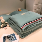 北极绒织带工艺款全棉夏被空调被夏凉被100%纯棉薄被子单双人被芯