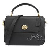 茱麗葉精品【現貨出清】 COACH C1557 Marlie 經典轉扣翻蓋兩用手提包.黑