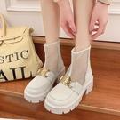 網紅短靴女2021新款春夏薄款夏季鏤空馬丁靴厚底網紗涼靴透氣靴子