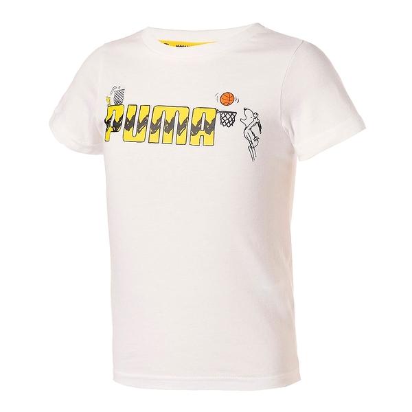 【現貨】PUMA x PEANUTS 童裝 大童 短袖 純棉 聯名 史奴比 休閒 白【運動世界】59946302