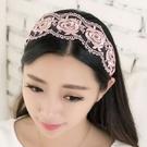 ►蕾絲髮箍 韓國寬頭箍燙金頭箍 頭飾 髮飾【B5028】